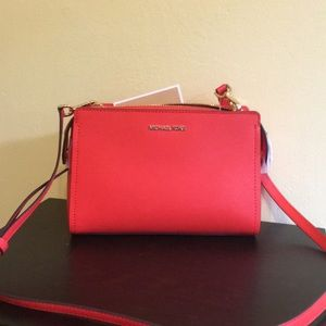 NWT Michael Kors leather corral color crossbody